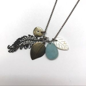 American Eagle Boho Feather Charm Necklace